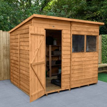 Hartwood 8' x 6' Overlap Pent Shed