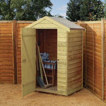 Rowlinson 4' x 3' Windowless Overlap Apex Shed