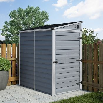 Palram 4' x 6' Skylight Pent Grey Shed