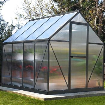 Palram 6' x 8' Mythos Grey Polycarbonate Greenhouse