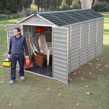 Palram 6' x 12' Skylight Plastic Grey Shed
