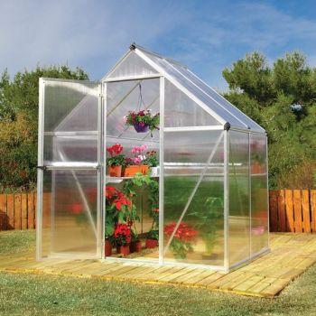 Palram 6' x 4' Mythos Silver Polycarbonate Greenhouse