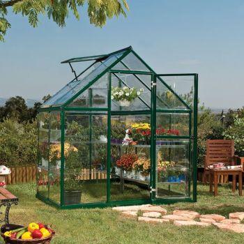 Palram 6' x 4' Harmony Green Polycarbonate Greenhouse