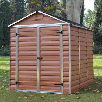 Palram 6' x 8' Skylight Plastic Amber Shed