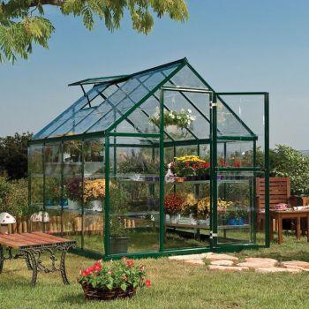 Palram 6' x 8' Harmony Green Polycarbonate Greenhouse