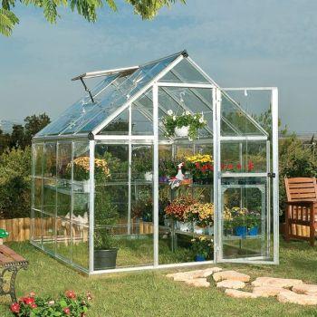 Palram 6' x 8' Harmony Silver Polycarbonate Greenhouse