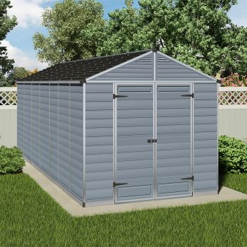 Palram 8' x 17' Skylight Plastic Grey Shed
