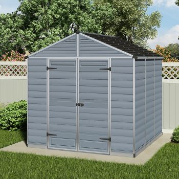 Palram 8' x 8'  Skylight Plastic Grey Shed
