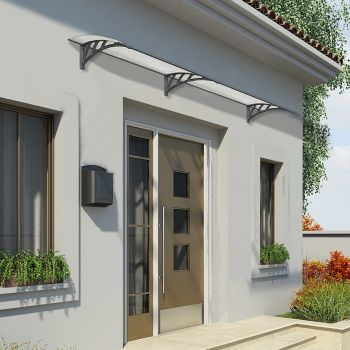 Palram Medium Grey Twinwall Doorway Canopy