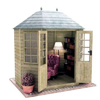 Redlands 8' x 6' Pressure Treated Octagonal Summer House