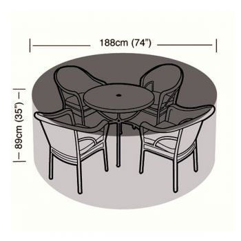 Protector - 4/6 Seater Circular Patio Set Cover - 188cm