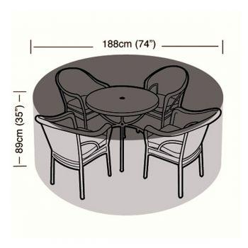 Protector - 4/6 Seater Circular Patio Set Cover - 188cm