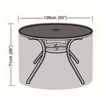Protector - 4/6 Seater Circular Table Cover - 128cm