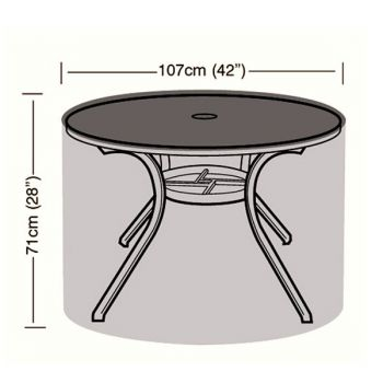 Protector - 4 Seater Circular Table Cover - 107cm
