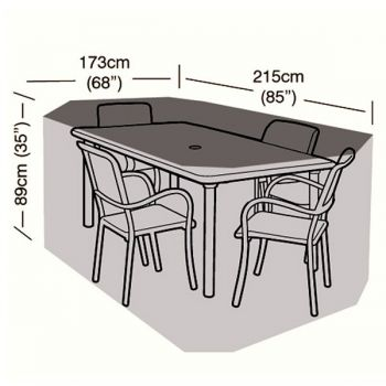 Protector - 4 Seater Rectangular Patio Set Cover - 215cm