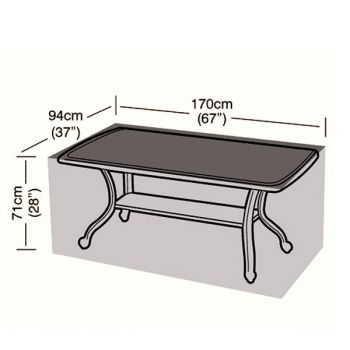 Protector - 6 Seater Rectangular Table Cover - 170cm