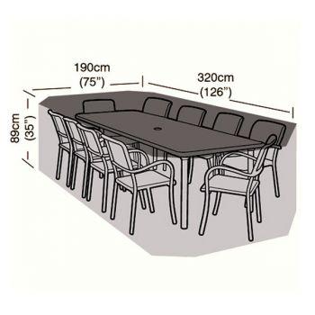 Protector - 8/10 Seater Rectangular Patio Set Cover - 320cm