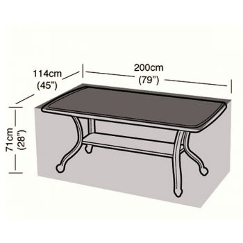 Protector - 8 Seater Rectangular Table Cover - 200cm