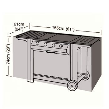 Protector - Large Flatbed 4 Burner BBQ Cover - 155cm