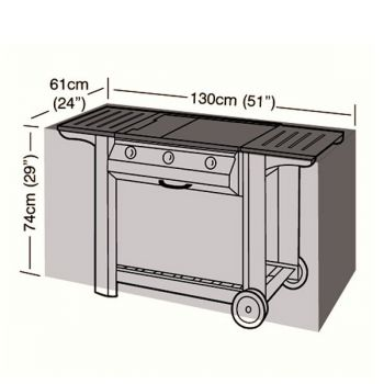 Protector - Medium Flatbed 3 Burner BBQ Cover - 130cm