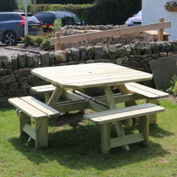 Moorvalley 8 Seater Square Picnic Table