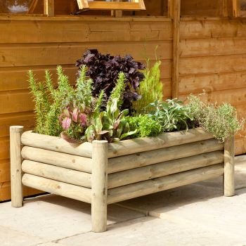 Hartwood Raised Log Planter
