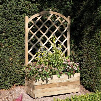 Rowlinson Rectangular Planter and Lattice
