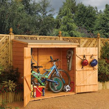Rowlinson 6' x 3' Double Door Tongue and Groove Bike Shed