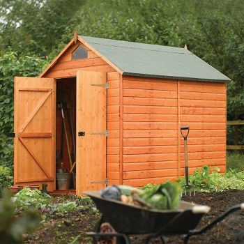 Rowlinson 8' x 6' Double Door Shiplap Apex Security Shed