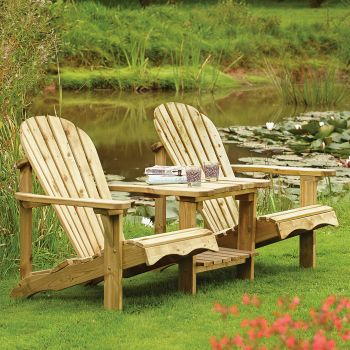 Rowlinson Softwood Adirondack Companion Seat