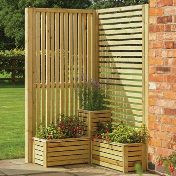 Rowlinson Horizontal Slatted Panel - Pack of 2
