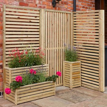 Rowlinson Vertical Slatted Panel - Pack of 4