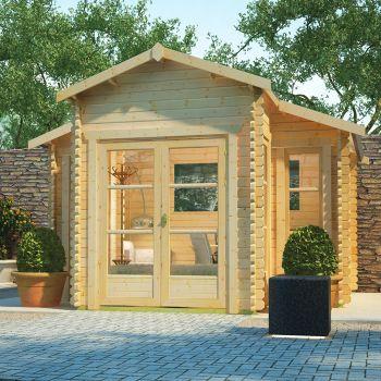 Redlands 4.2m x 4.2m Belfry Log Cabin