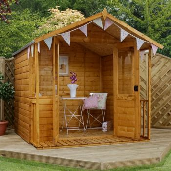 Adley 7' x 7' Traditional Summer House With Veranda