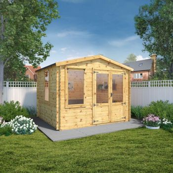 Adley 3.3m x 3.0m Newhaven Log Cabin