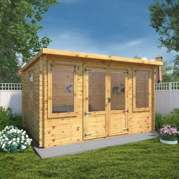Adley 4m x 3m Hereford Log Cabin