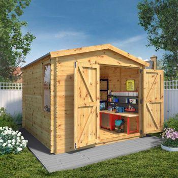 Adley 3m x 3.3m Ultimate Log Cabin Workshop