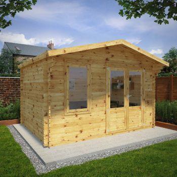 TEST - Adley 5m x 3m Lincoln Log Cabin