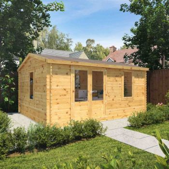 Adley 5m x 4m Home Office Log Cabin