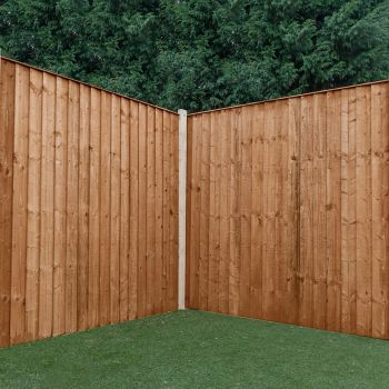 Adley 5' x 6' Pressure Treated Feather Edge Flat Top Fence Panel