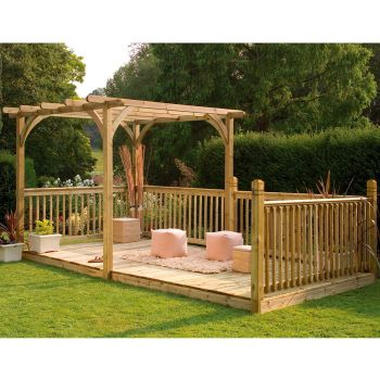Hartwood Supreme Pergola & Patio Decking Kit