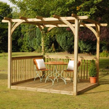Hartwood Supreme Pergola Decking Kit