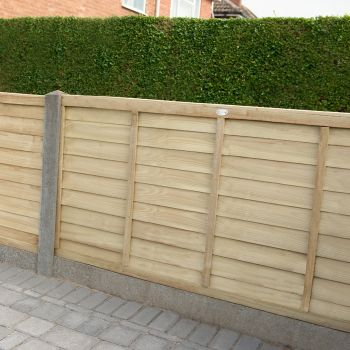 Hartwood 3' x 6' Pressure Treated Contemporary Lap Fence Panel