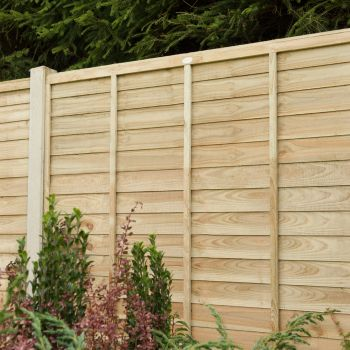 Hartwood 5' x 6' Pressure Treated Contemporary Lap Fence Panel