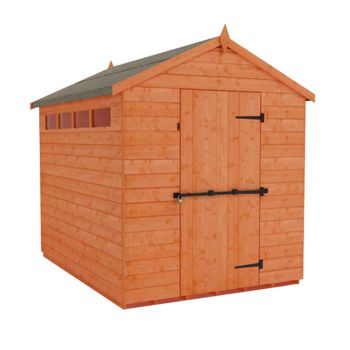 Redlands 6' x 8' Shiplap Apex Security Shed