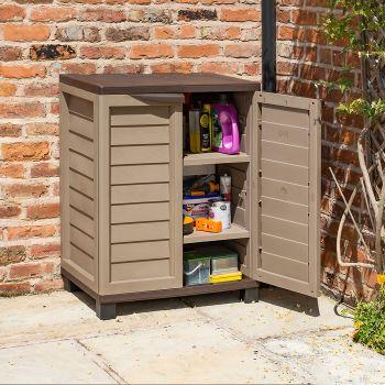 Rowlinson Plastic Utility Cabinet - Mocha
