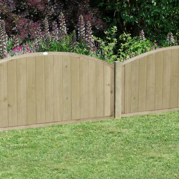 Hartwood 4' x 6' Vertical Tongue & Groove Curved Fence Panel