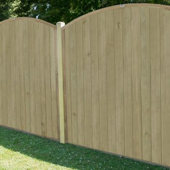 Hartwood 5' x 6' Vertical Tongue & Groove Curved Fence Panel
