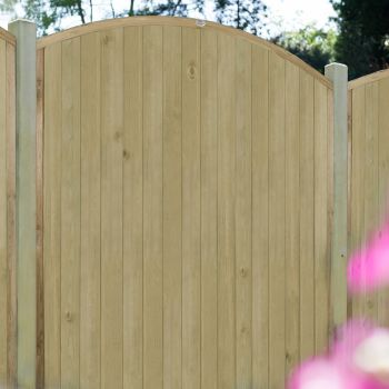 Hartwood 6' x 6' Vertical Tongue & Groove Curved Fence Panel