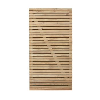 Hartwood 6' x 3' Pressure Treated Contemporary Double Slatted Gate